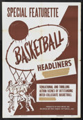 "Movie Posters:Sports, Basketball Highlights Stock (RKO, 1950). One Sheet (27"" X 41""). Sports...."