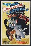"Movie Posters:Animated, Tom and Jerry Stock (MGM, 1955). One Sheet (27"" X 41""). Animated. Featuring Hanna-Barbera animation. ..."