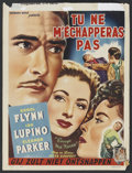 "Movie Posters:Drama, Escape Me Never (Warner Brothers, 1948). Belgian (14"" X 18.5"").Drama. Starring Errol Flynn, Ida Lupino, Eleanor Parker, Gig..."