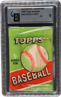 Baseball Cards:Other, 1955 Topps 5 cent Wax Pack Authentic-Unopened GAI EX 5...
