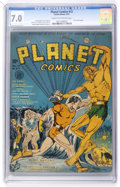 Golden Age (1938-1955):Science Fiction, Planet Comics #12 (Fiction House, 1941) CGC FN/VF 7.0 Cream tooff-white pages....