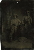 Photography:Tintypes, Sixth Plate Tintype of Two Scouts....