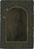 Photography:Tintypes, Sixth Plate Tintype of Indian War Period Scout....