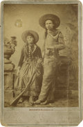 Photography:Cabinet Photos, Cabinet Card of Kentucky Frank and Little Fawn Fancy WesternLeather Workers....