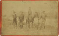 Photography:Cabinet Photos, Cabinet Card of Four Armed Men....