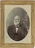Photography:Studio Portraits, Cabinet Card of Reverend Austin Cunningham Aten, Father of Texas Ranger Ira Aten....