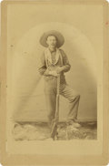 Photography:Cabinet Photos, Cabinet Card of Unidentified Arizona Cowboy, circa 1880s....