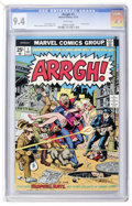 Bronze Age (1970-1979):Humor, Arrgh! #1 (Marvel, 1974) CGC NM 9.4 White pages....
