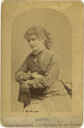 Photography:Cabinet Photos, Cabinet Card of Lotta Crabtree by Thomas Houseworth....