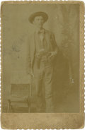 Photography:Cabinet Photos, Cabinet Card of Unidentified Lawman, circa 1880s....