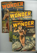 Pulps:Science Fiction, Thrilling Wonder Stories Group (Beacon, 1948-53) Condition: AverageVG/FN.... (Total: 10 Items)