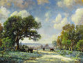 Texas, JERRY MALZAHN (American, b. 1946). Bandera Afternoon. Oil onboard. 18 x 24 inches (45.7 x 61.0 cm). Signed lower right:...