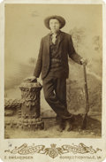 Photography:Official Photos, Pristine Cabinet of Unknown Cowboy, circa 1890s....