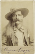 Photography:Cabinet Photos, Terrific Bust Cabinet of Indian Scout and Entertainer, ArizonaGeorge, circa 1891....