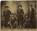 Photography:Cabinet Photos, Outstanding Panel Card Image of Bill Holcomb and Early CaliforniaPioneers, circa 1880s....