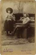 Photography:Cabinet Photos, Cabinet Card of Cowboy and Cowgirl Musicians....