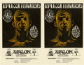 Music Memorabilia:Posters, 13th Floor Elevators Avalon Ballroom Concert Handbill FD-28, UncutSheet of 2 (Family Dog, 1966)....