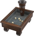 Antiques:Decorative Americana, Fantastic Saloon Gaming Trade Stimulator Dice Rolling Table, circa1890s-1900s. ...