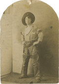 """Photography:Cabinet Photos, Cabinet Card of the """"Original Singing Cowboy""""...."""