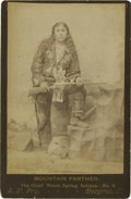 Photography:Cabinet Photos, Cabinet Card of Mountain Panther, Chief of the Warm SpringsTribe....