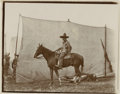 Photography:Studio Portraits, Photograph of Mexican Cowboy on Horseback....
