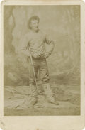 Photography:Cabinet Photos, Cabinet Card of Unknown Frontiersman, circa 1880s....