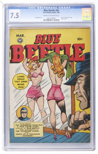 Blue Beetle #54 (Fox Features Syndicate, 1948) CGC VF- 7.5 Cream to off-white pages