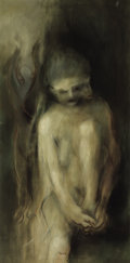Texas:Early Texas Art - Modernists, RICHARD GORDON STOUT (American, b. 1934). Ephemeral Nude withDemons, 1957. Oil on canvas. 48 x 25 inches (121.9 x 63.5 ...