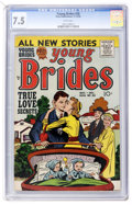 Golden Age (1938-1955):Romance, Young Brides #30 (Prize, 1956) CGC VF- 7.5 White pages....