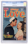 Golden Age (1938-1955):Romance, Young Love #25 (Prize, 1951) CGC FN- 5.5 Off-white to whitepages....
