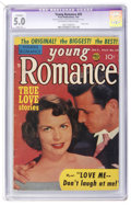 Golden Age (1938-1955):Romance, Young Romance Comics #59 (Prize, 1953) CGC Apparent VG/FN 5.0Slight (P) Off-white to white pages....