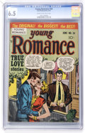 Golden Age (1938-1955):Romance, Young Romance Comics #34 (Prize, 1951) CGC FN+ 6.5 Cream tooff-white pages....