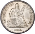 Seated Half Dimes, 1864 H10C MS66 PCGS....
