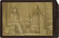 Photography:Cabinet Photos, Charles Eisenmann Cabinet of Unidentified Indian Family....