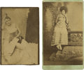 Photography:CDVs, Two CDVs of Painted Ladies, circa 1880s.... (Total: 2 Items)