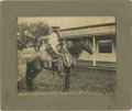 Photography:Cabinet Photos, Cabinet Card of Anonymous Cowpoke on the Ranch, circa 1890s....