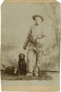 Photography:Cabinet Photos, Cabinet Card of Unidentified Mountain Man, circa 1880s....