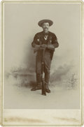 Photography:Cabinet Photos, Duded-Up Mountain Man Cabinet Card, circa 1890s....