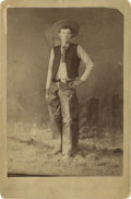 Photography:Cabinet Photos, Cabinet Card of Young Cowboy, circa 1890s....