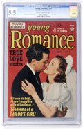 Golden Age (1938-1955):Romance, Young Romance Comics #13 (Prize, 1949) CGC FN- 5.5 Cream tooff-white pages....