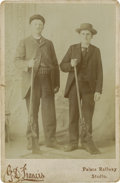 Photography:Cabinet Photos, Cabinet Card of Armed Real Estate Guards, circa 1880s....