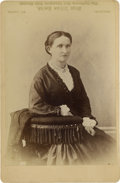 Photography:Cabinet Photos, Error Cabinet Card of Unidentified Woman, circa 1880s....