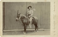 Photography:Cabinet Photos, Cabinet Card of Unknown Cowboy, circa 1890s....