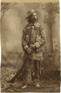 Photography:Cabinet Photos, Trimmed Cabinet Card of Duded-Up Mountain Man, circa 1890s....