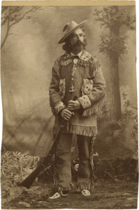 Trimmed Cabinet Card of Duded-Up Mountain Man, circa 1890s