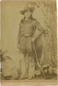 Photography:Cabinet Photos, Cabinet Card of Unidentified Mountain Man, circa 1890s....