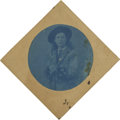 Photography:Tintypes, Rare Cyanotype Image of Unidentified Cowboy Dandy, circa 1880s....