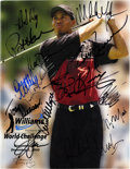 Golf Collectibles:Autographs, 2000 Celebrity Golf Tournament Multi-Signed Program....