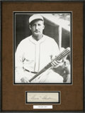 Autographs:Others, Goose Goslin Signed Index Card Framed With Photo....