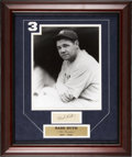 Autographs:Others, Babe Ruth Signed Cut Signature Framed With Photo....